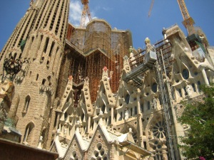 Construction of the Sagrada Familia.
