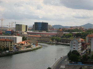 Looking back on Bilbao. Halfway to the Jetsons.