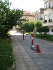 Exercise equipment in the streets.