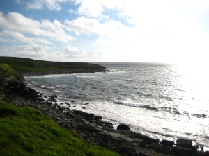Doolin's coast. Keep walking that way and you'll reach the Cliffs of Moher.