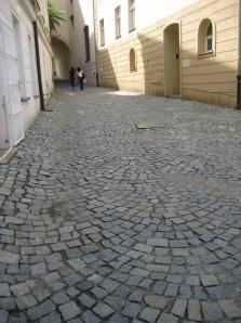cobblestones of Olomouc