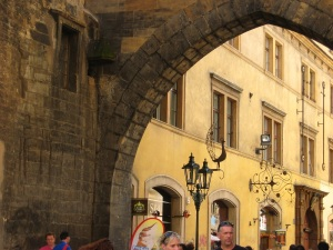 Archway by Charles Bridge. One of my favorite spots in Old Town.
