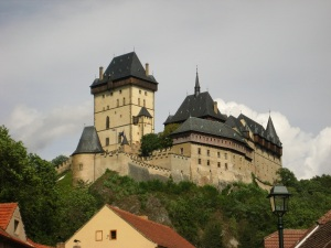 Closer view of Karlstejn Castle