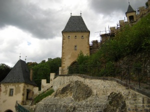 close-up of some of the castle