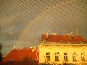 Rainbow over Prague