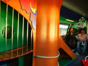 Only in Switzerland do trains come with playgrounds.