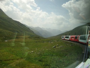Aboard the Glacier Express